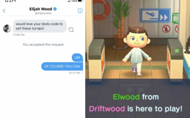 Elijah Wood is listed (or ranked) 1 on the list Celebrities Who Play 'Animal Crossing: New Horizons'