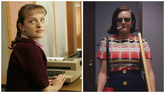 Elisabeth Moss is listed (or ranked) 4 on the list How the Cast of Mad Men Aged from the First to Last Season