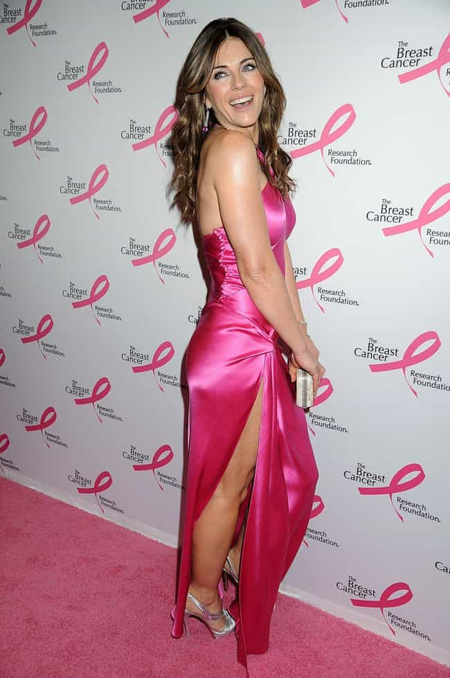 Elizabeth Hurley is listed (or ranked) 3 on the list Which Celeb Has The Most Beautiful Legs?