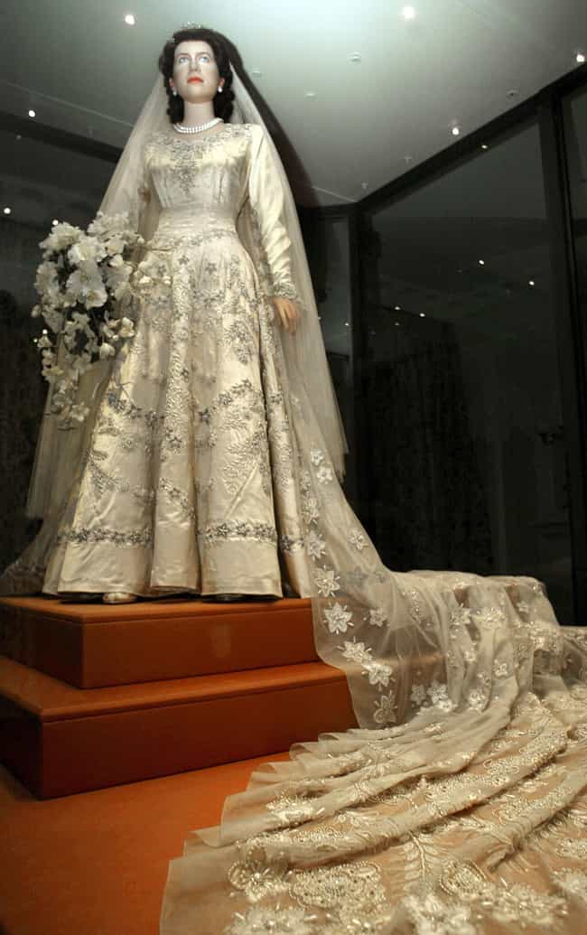 Elizabeth II is listed (or ranked) 4 on the list The Greatest Royal Wedding Dresses In History