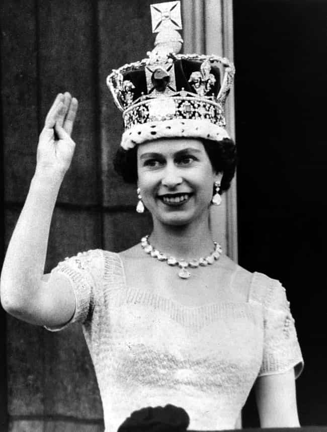 Elizabeth II is listed (or ranked) 3 on the list The Different Physical Sizes Of British Monarchs