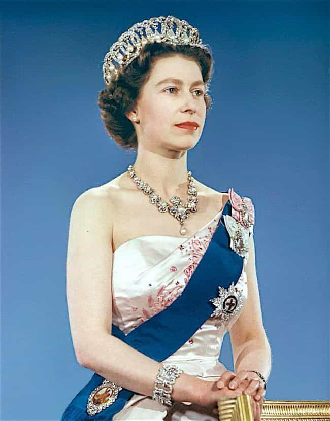 Elizabeth II is listed (or ranked) 3 on the list The Most Ridiculous Titles of Nobility in History