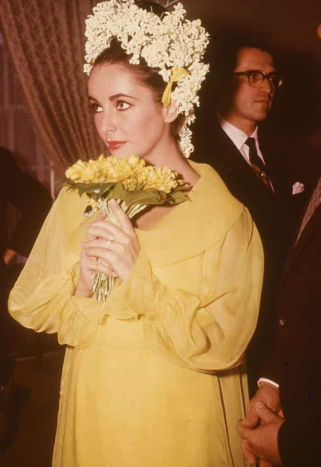 Elizabeth Taylor is listed (or ranked) 8 on the list 31 of the Wackiest Celebrity Wedding Gowns