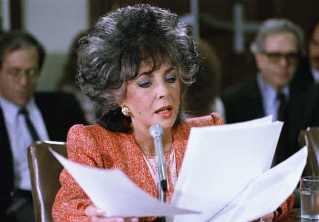 Elizabeth Taylor is listed (or ranked) 3 on the list 22 Celebrities Who Have Testified Before Congress
