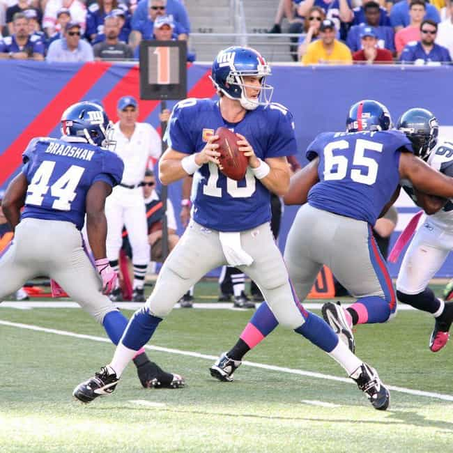 """Eli Manning is listed (or ranked) 4 on the list The Best """"Big Game"""" Performances by a Quarterback"""