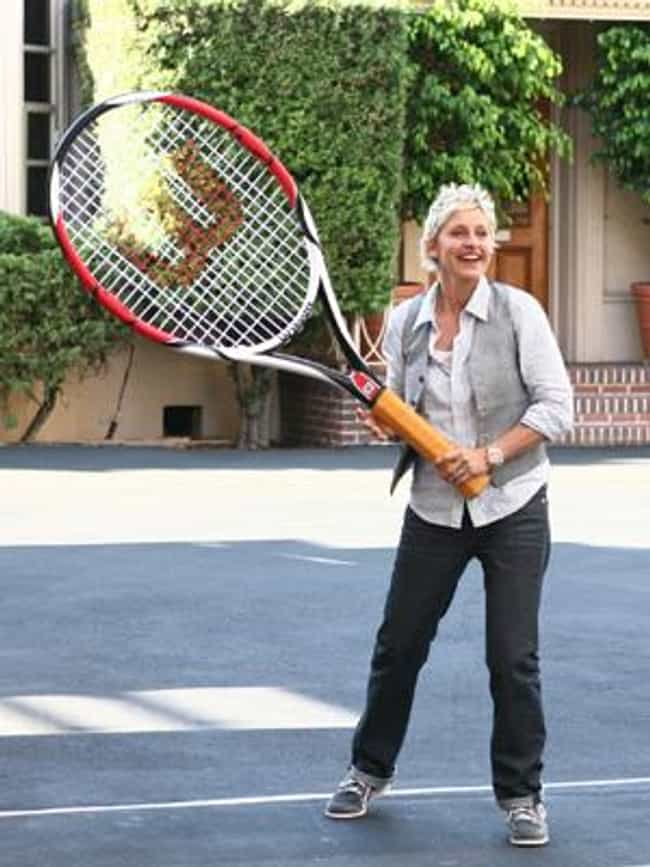 Ellen DeGeneres is listed (or ranked) 3 on the list Celebrities Who Played Tennis in School