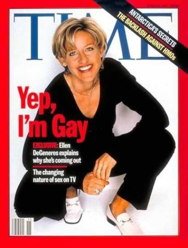 Ellen DeGeneres is listed (or ranked) 1 on the list 34 Gay Stars Who Came Out to the Media