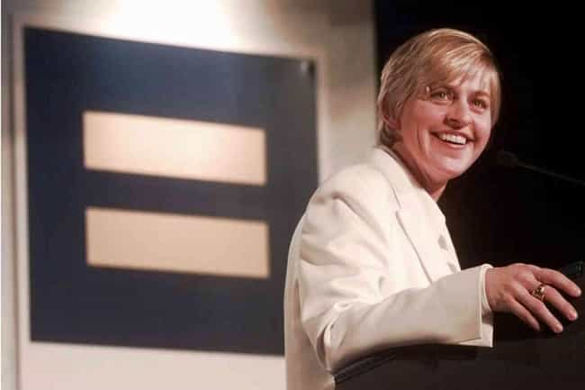 Ellen DeGeneres is listed (or ranked) 1 on the list 26 Famous Gay People Who Fight for Human Rights