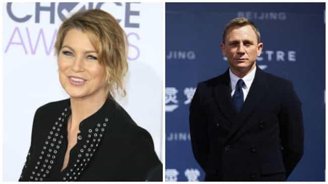 Ellen Pompeo to Daniel Craig