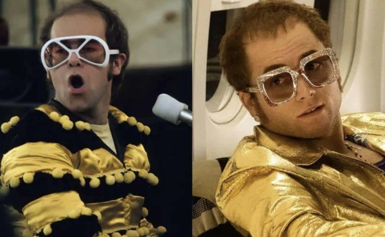 Elton John - Taron Egerton is listed (or ranked) 1 on the list 'Rocketman' Actors Vs. The Real People They Play
