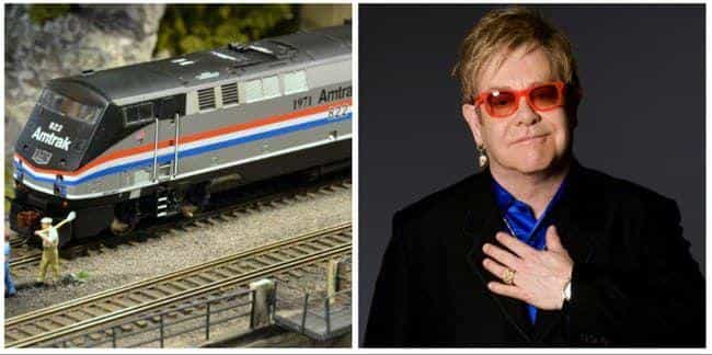 Elton John is listed (or ranked) 2 on the list Famous Model Train Hobbyists