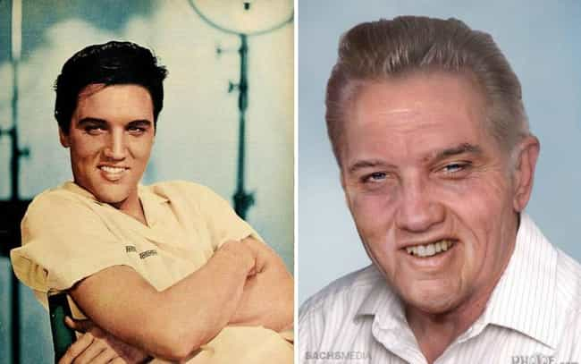 Elvis Presley is listed (or ranked) 1 on the list This Artist Imagined How These Dead Rock Stars Would Look If They Were Still Alive Today