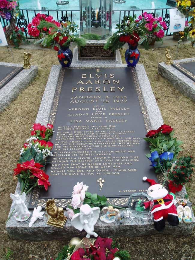 Elvis Presley is listed (or ranked) 3 on the list Rock Stars with the Coolest Tombstones