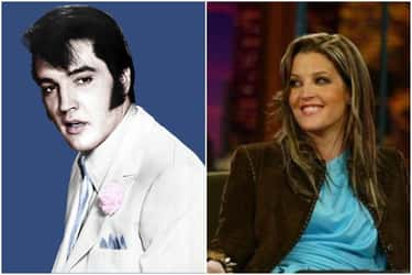 Elvis Presley And Lisa Marie Presley At 35