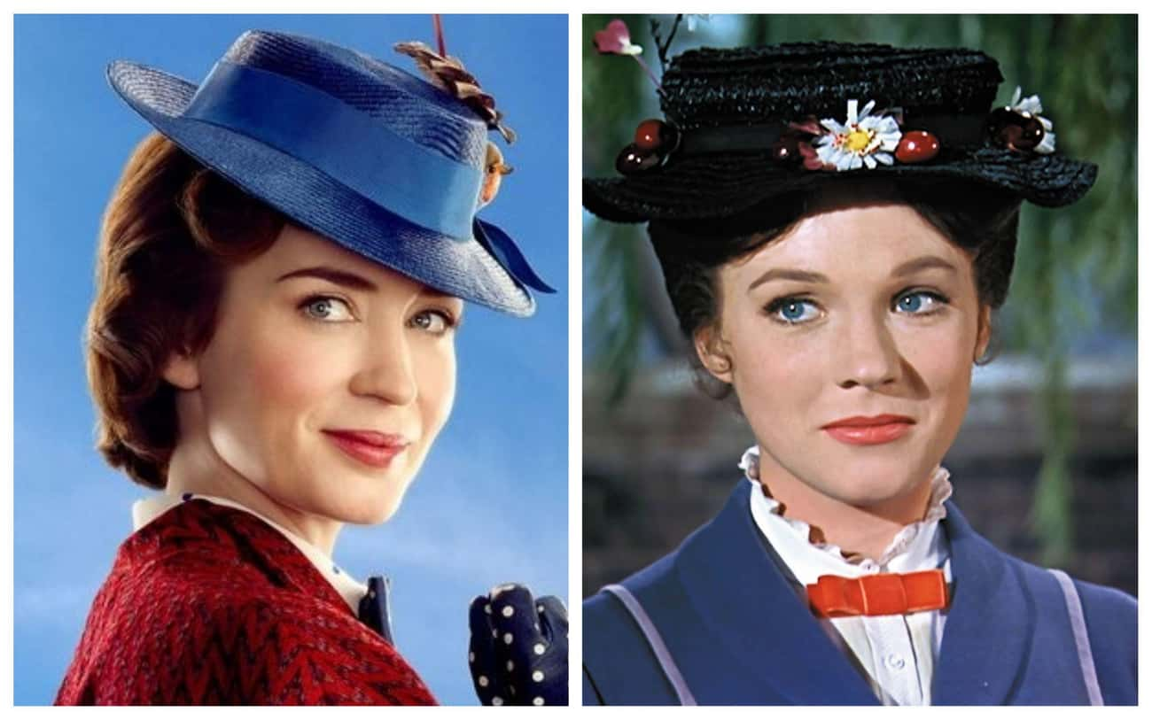 Emily Blunt As Mary Poppins, O is listed (or ranked) 3 on the list All The Actors In 'Mary Poppins' Vs. Their Counterparts In 'Mary Poppins Returns'