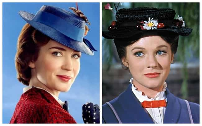 Emily Blunt is listed (or ranked) 2 on the list All The Actors In 'Mary Poppins' Vs. Their Counterparts In 'Mary Poppins Returns'