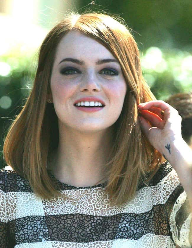 Emma Stone被列入名人名单中的10名(或排名)