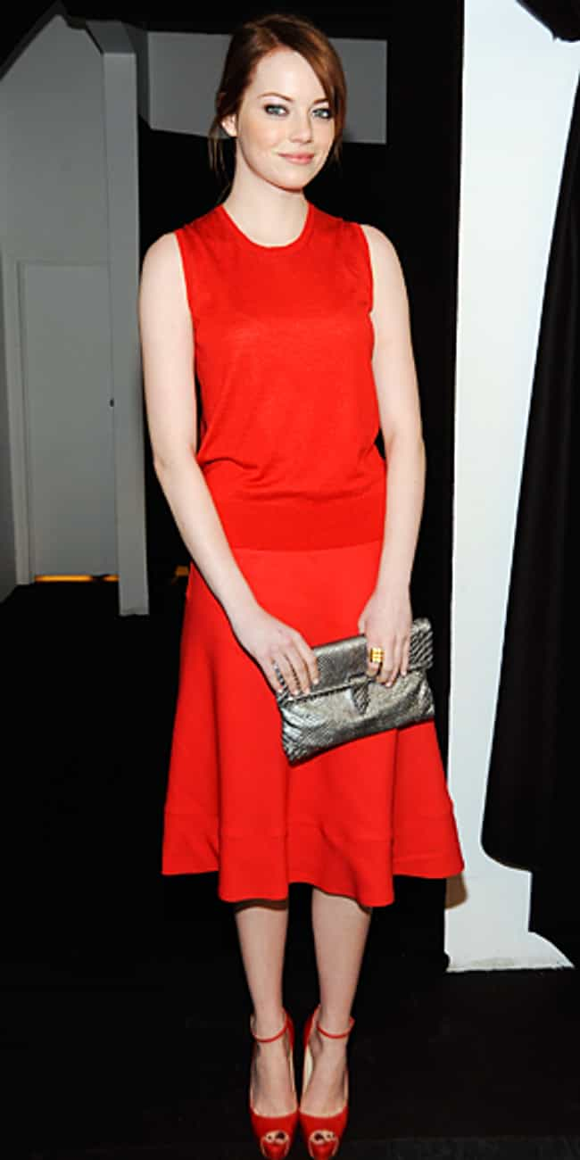 Emma Stone is listed (or ranked) 4 on the list Celebrities in Calvin Klein Dresses