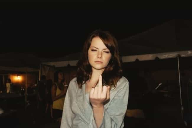 Emma Stone is listed (or ranked) 2 on the list 28 Famous People You Wouldn't Expect Giving the Finger