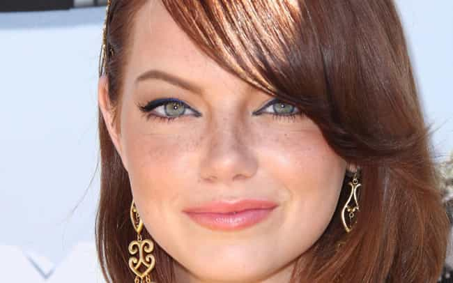 Emma Stone is listed (or ranked) 2 on the list Beautiful Celebrity Girls with Adorable Freckles