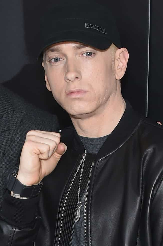 Eminem is listed (or ranked) 2 on the list Rappers Who Struggle with Mental Illness