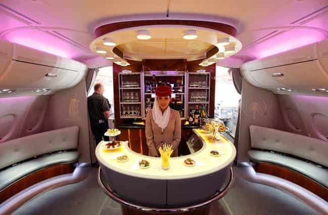 Emirates is listed (or ranked) 3 on the list What First Class Looks Like on Different Airlines