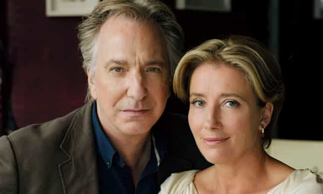 Emma Thompson is listed (or ranked) 3 on the list Stars React to Alan Rickman's Death