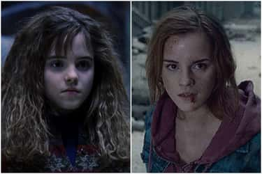Emma Watson - Hermione Granger is listed (or ranked) 2 on the list What The Cast Of 'Harry Potter' Looked Like At The Beginning Vs. The End Of The Series