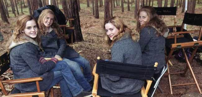 Emma Watson is listed (or ranked) 8 on the list Awesome Photos Of Celebrities With Their Stunt Doubles