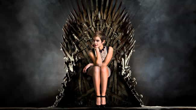 Emma Watson is listed (or ranked) 4 on the list 26 Famous People Sitting On The Iron Throne