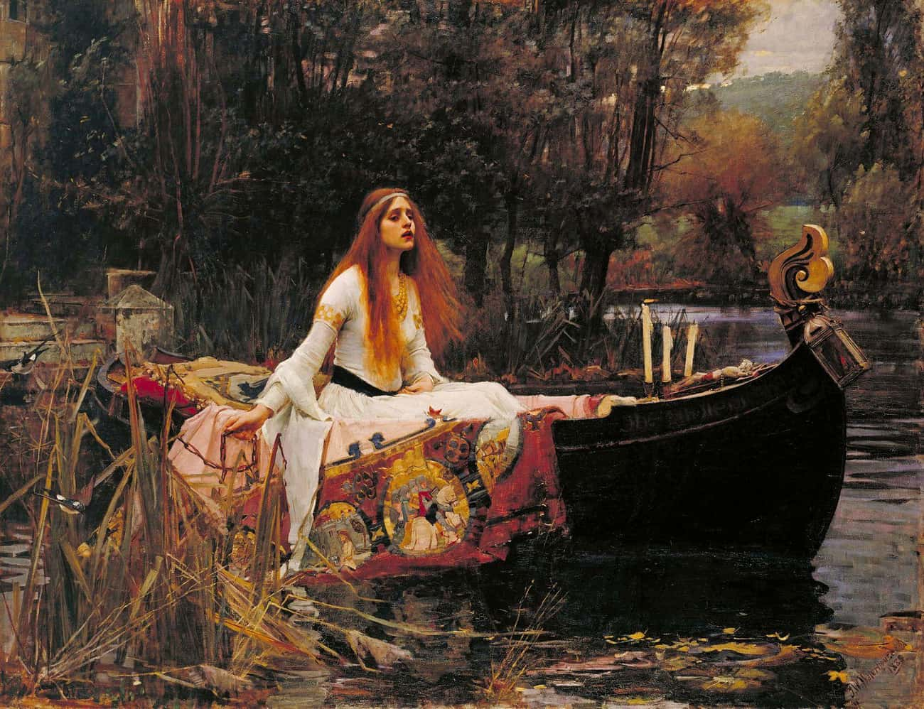 The Lady of Shalott is listed (or ranked) 4 on the list The Best Paintings Of All Time