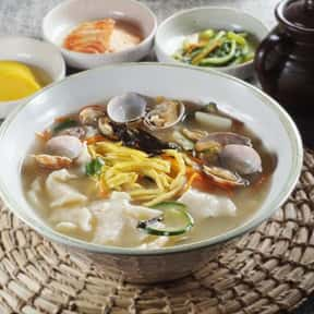 Sujebi is listed (or ranked) 25 on the list The Best Korean Food