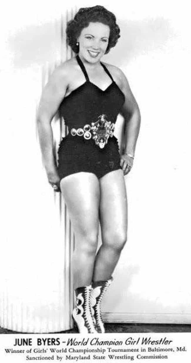 June Byers is listed (or ranked) 2 on the list Evolution of Female Pro Wrestlers