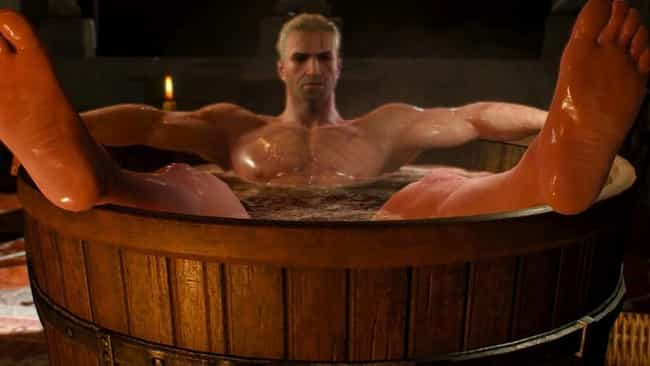 Geralt of Rivia is listed (or ranked) 1 on the list 13 Strong Reasons Why 'Witcher 3' Is Better Than 'Skyrim'