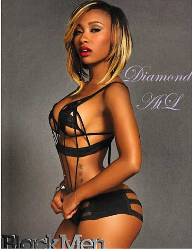 Diamond is listed (or ranked) 3 on the list The Sexiest Female Rappers