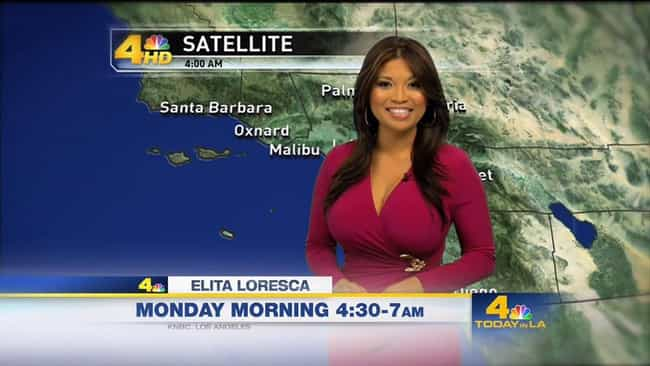 Elita Loresca is listed (or ranked) 3 on the list Bustiest Weather Girls From Around The World
