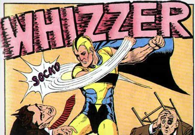 Whizzer (Robert Frank) ... is listed (or ranked) 2 on the list The 15 Lamest Superhero Origin Stories