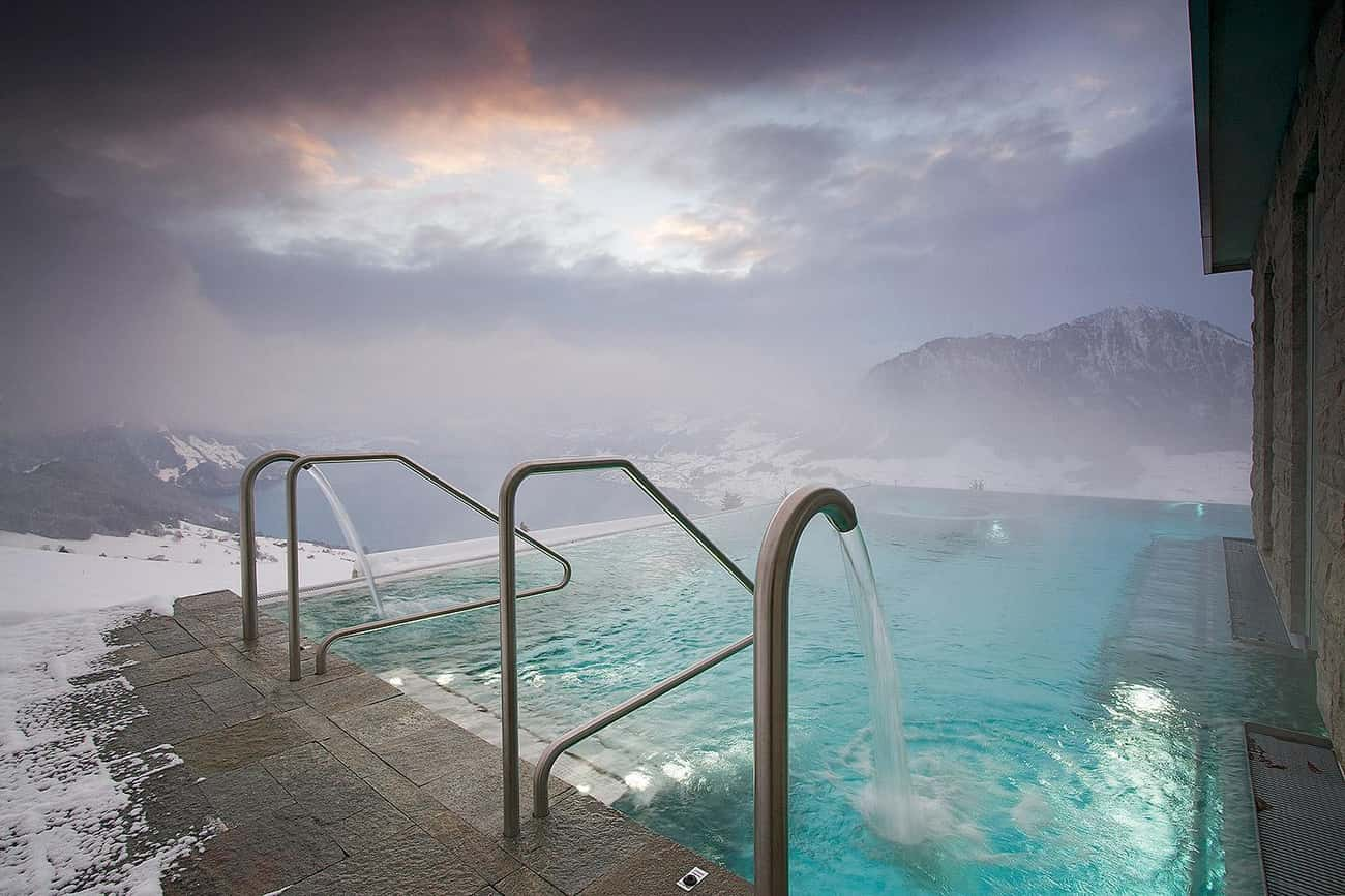 Hotel Villa Honegg - Ennetbürg is listed (or ranked) 1 on the list The 35 Coolest Pools in the World