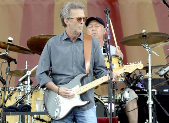 Eric Clapton is listed (or ranked) 5 on the list Super Boring Musicians You Had No Idea Used To Be (Or Still Are) Hardcore AF