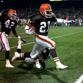 Eric Metcalf is listed (or ranked) 20 on the list The Best NFL Running Backs of the 90s