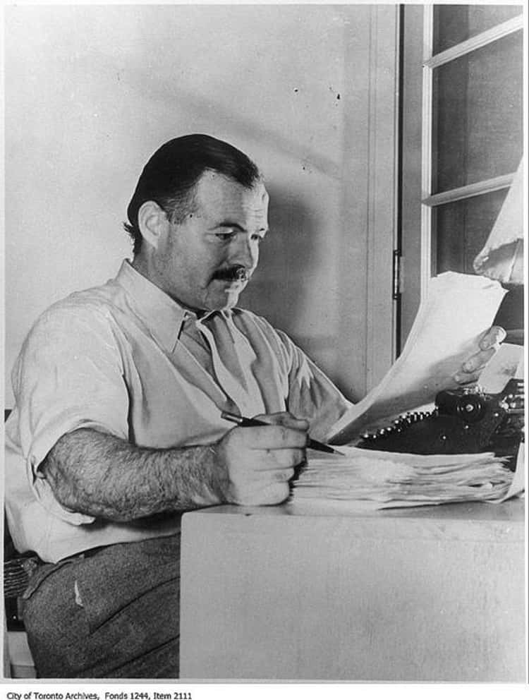 Ernest Hemingway's Liver Was Literally Sticking Out