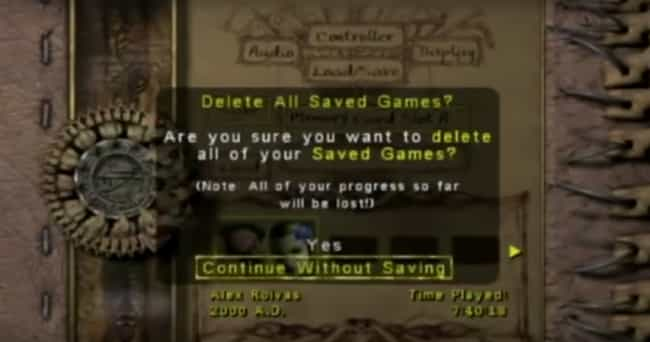 Eternal Darkness: Sanity... is listed (or ranked) 3 on the list 19 Times Video Games Broke The Fourth Wall