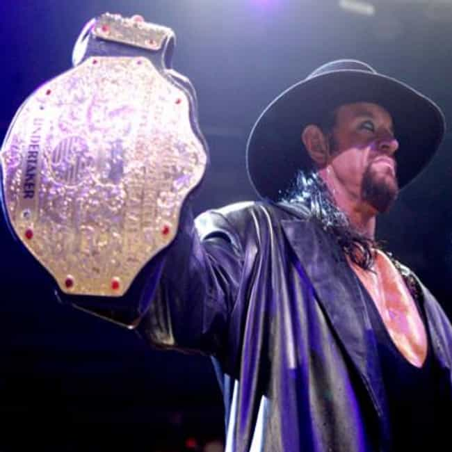 Undertaker is listed (or ranked) 1 on the list The Best WWE World Heavyweight Champions