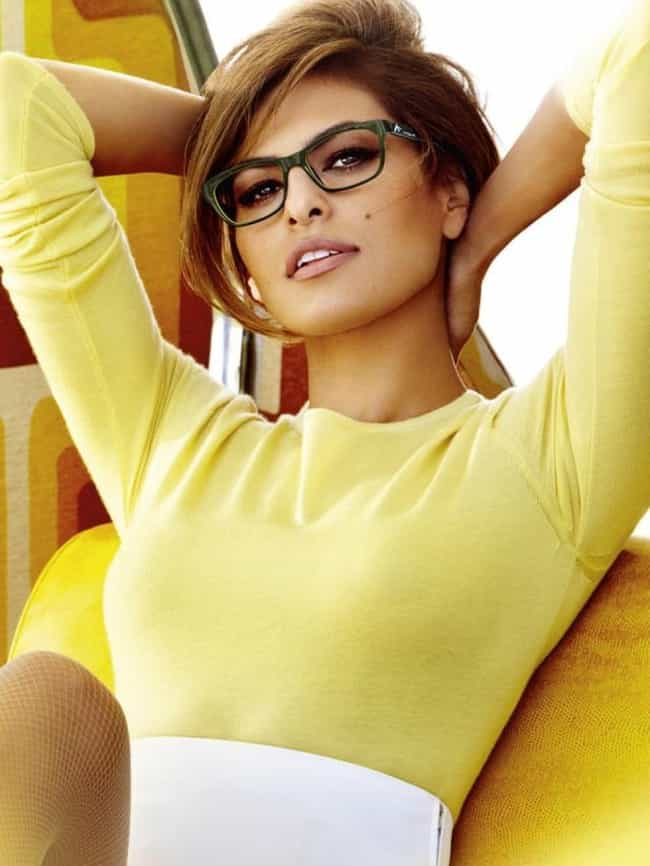 Eva Mendes is listed (or ranked) 1 on the list The Sexiest Famous Girls Who Wear Glasses