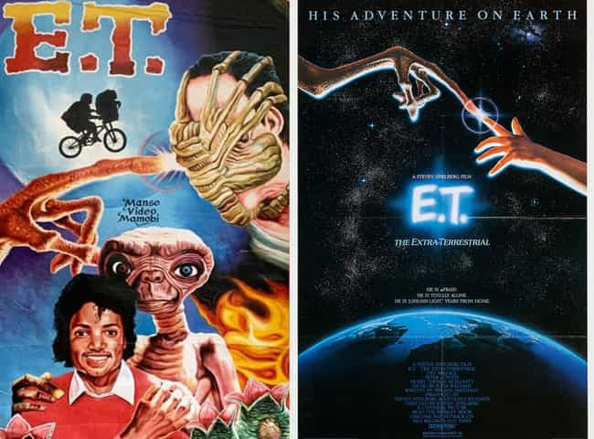 E.T. the Extra-Terrestri... is listed (or ranked) 2 on the list Delightfully Inaccurate Movie Posters From Ghana Vs. Their American Counterparts