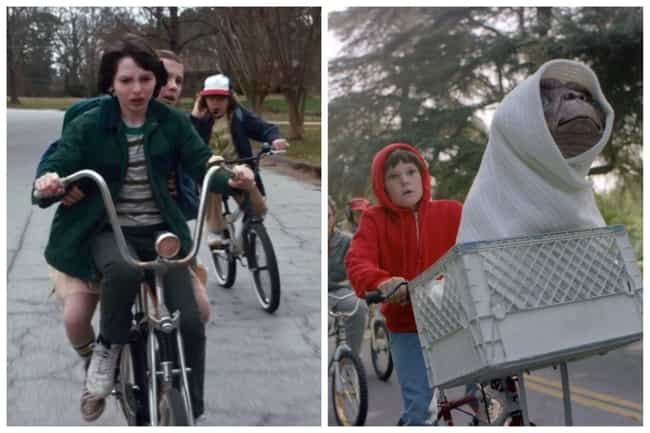 E.T. the Extra-Terrestrial is listed (or ranked) 4 on the list All The Movie Callbacks In 'Stranger Things'