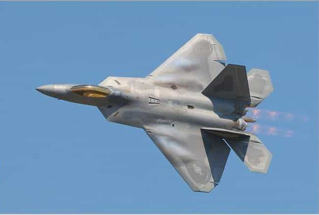Lockheed Martin F-22 Raptor is listed (or ranked) 3 on the list The Sexiest Military Aircrafts