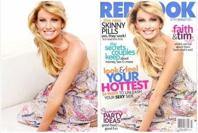 Faith Hill is listed (or ranked) 1 on the list Un-Retouched Photos of Famous Celebrities
