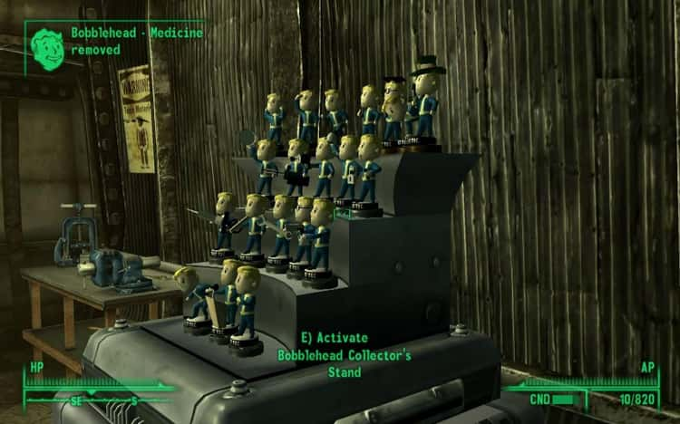 Bobbleheads In 'Fallout 3'