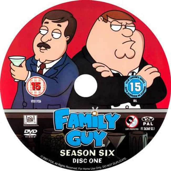 Family Guy - Season 6 is listed (or ranked) 2 on the list The Best Seasons of 'Family Guy'